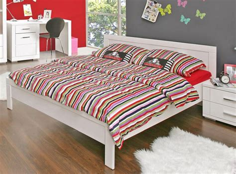 Jugendbett Snow Bett 140 X 200 Cm, Einzelbett In Weiß Matt