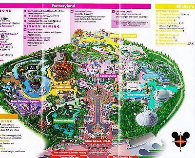 2017 new disneyland map guides electrical