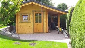 Gartenhaus Mit Vordach : kleines gartenhaus mit gro em seitlichen vordach 1 gsp blockhaus ~ Udekor.club Haus und Dekorationen