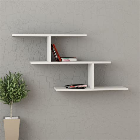 muro a mensola kristin mensola libreria a muro in melaminico 18 mm design