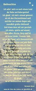 Weihnachtsgrüße Text An Chef : weihnachtsgedicht weihnachtsgedicht von hermann hesse ~ Haus.voiturepedia.club Haus und Dekorationen