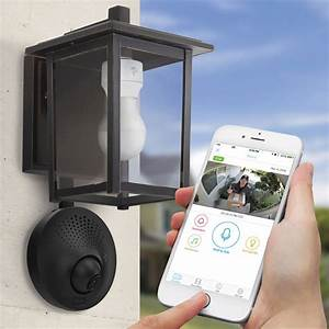 light socket powered wi fi security camera the green head With outdoor garage lights with camera