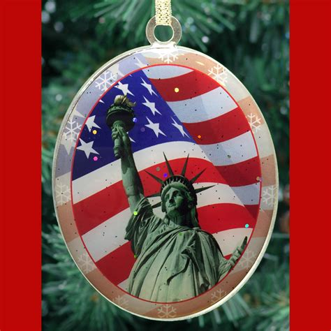christmas decorations statue of liberty statue of liberty flag new york ornament ny gifts