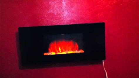 Chimney-free Wall Mounted Electric Fireplace