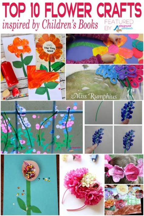 top 10 book inspired flower crafts for 515 | Flower Crafts for Kids from Books 433x650