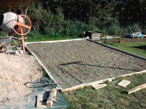 dalle b 233 ton pour abri de jardin montage de l abri de jardin muret en fa 231 ade nievre