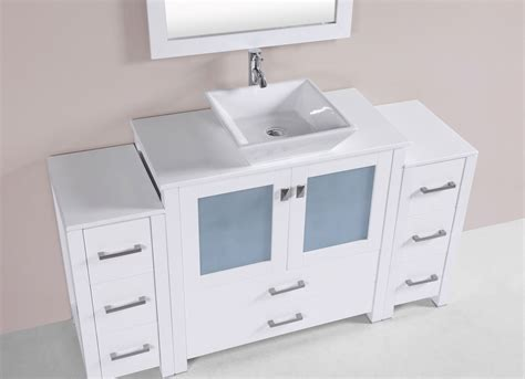 2 sink bathroom vanity 60 quot newport white single modern bathroom vanity with 2
