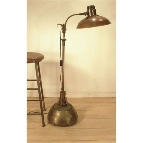 Antique Brass and Aluminum Floor Lamp