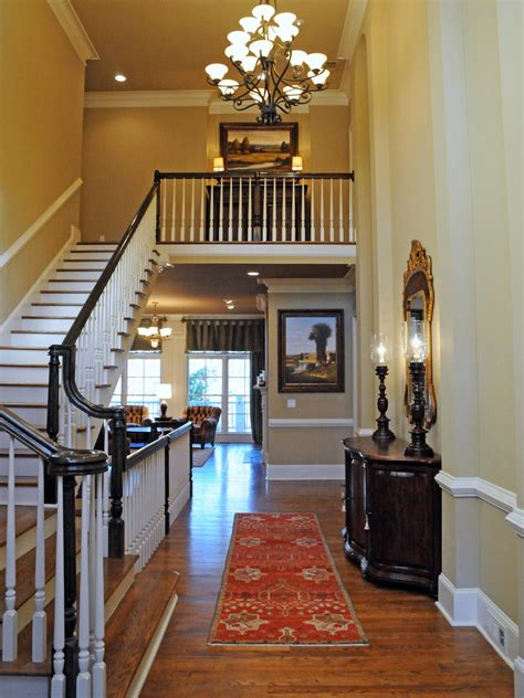 Chandelier For Two Story Foyer by Traditional Two Story Foyer With Large Chandelier And