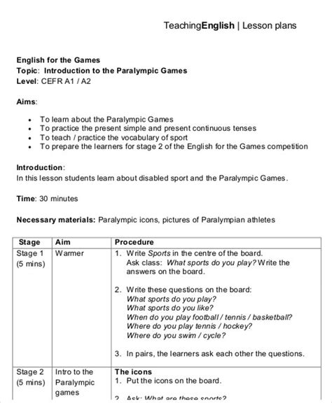 British Council Lesson Plan Template Blank by 40 Lesson Plan Templates Free Premium Templates