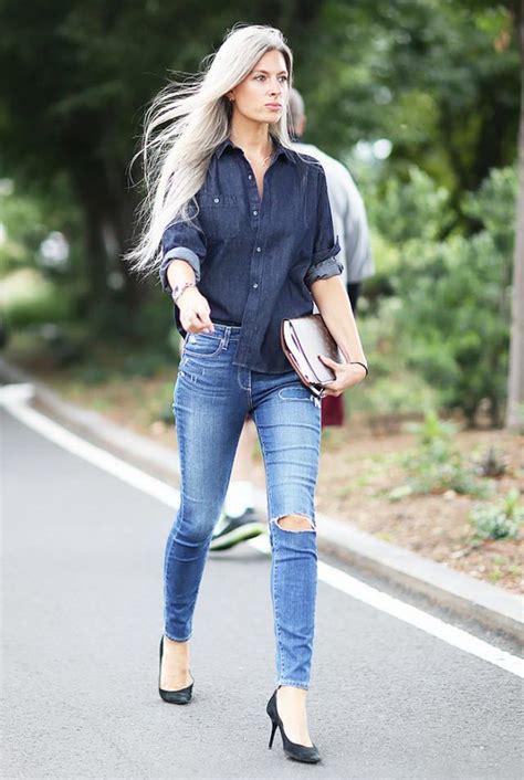 25 Fashion Tips On How To Wear A Denim Shirt 2018   FashionTasty.com