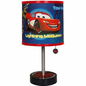 Disney cars table lamp walmartcom for Cars 2 table lamp