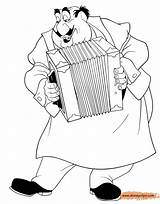 Tony Tramp Lady Coloring Pages Disneyclips Playing Accordion Funstuff sketch template