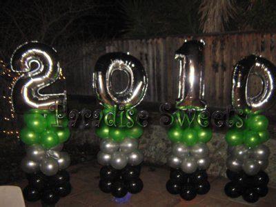 elegant graduation centerpieces balloons decor