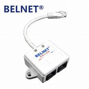 Belnet Rj45 Connector Network Ethernet Cable Splitter Internet Splitter Two Computer Router Iptv