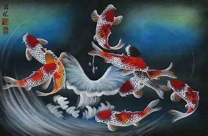 Koi Fish Painting Paintings Japanese Asian Dreams