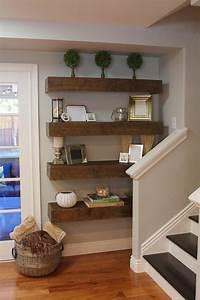 Floating, Shelves, Living, Room