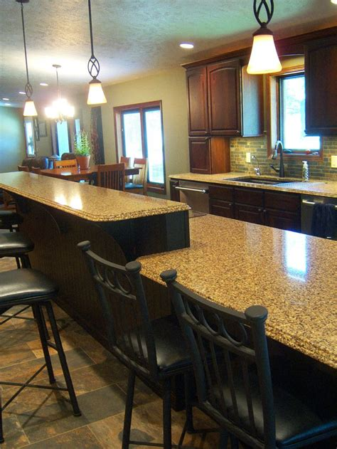 kitchen islands with seating for 2 island with 2 level seating designs by