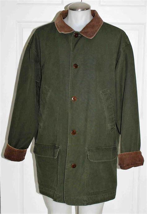 ll bean barn coat ll bean canvas chore field barn jacket coat mens xl