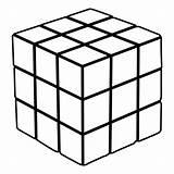 Cube Coloring Rubik Rubiks Transformation sketch template