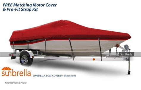 Sunbrella Boat Covers by Sunbrella Boat Cover For Tri Hull Runabout Fits 16 6