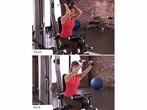 Machine Overhead Triceps Extensions – Women