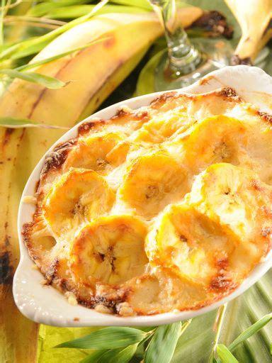 marmiton recette cuisine gratin de bananes jaunes bananes plantain recipe