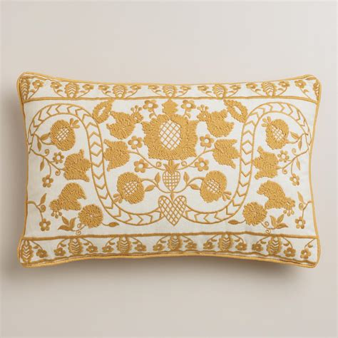 world market pillows yellow mindhi lumbar pillow world market