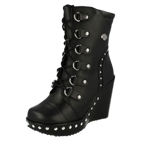 29 Original Womens Black Ankle Biker Boots