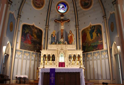 catholic church interior holy cross columbus
