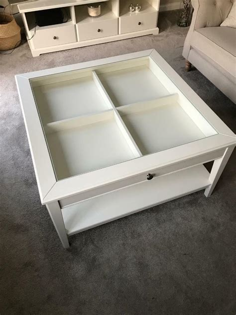 It also has shelf beneath the drawer for magazines or books. Ikea Liatorp Coffee Table White/Glass   in Selby, North Yorkshire   Gumtree