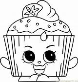 Coloring Cupcake Shopkins Pages Chic Hopkins Queen Shopkin Cupcakes Colouring Printables Coloringpages101 Betty Birthday Valentine Pdf Template sketch template
