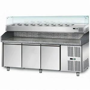 Meuble Avec Vitrine : meuble a pizza 3 portes avec vitrine chrchef ~ Teatrodelosmanantiales.com Idées de Décoration