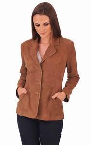Blouson En Daim Femme : veste aspect daim femme la canadienne la canadienne veste 3 4 nubuck et daim tabac ~ Melissatoandfro.com Idées de Décoration