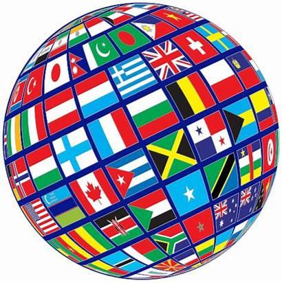 Flags Globe Transparent Tilted Flag Background Wpclipart