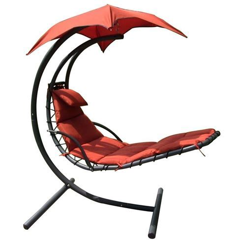 Hanging Chaise Lounger Canopy Chair Arc Stand Air Porch
