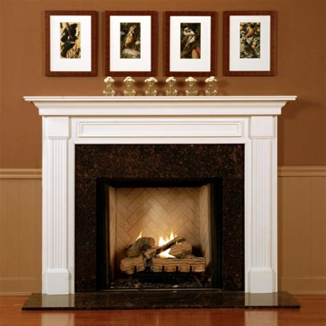 Fireplace Mantel Legs - great ideas on how to decorate the fireplace interior