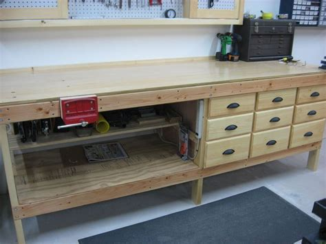 image result  wood shop workbench  drawers