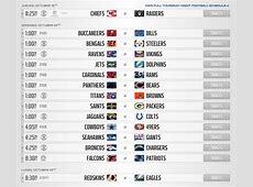 Dan a conocer el calendario de la temporada 2017 de la NFL