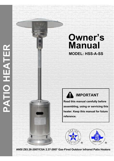 mainstay patio heater troubleshooting 100 hiland patio heater troubleshooting patio