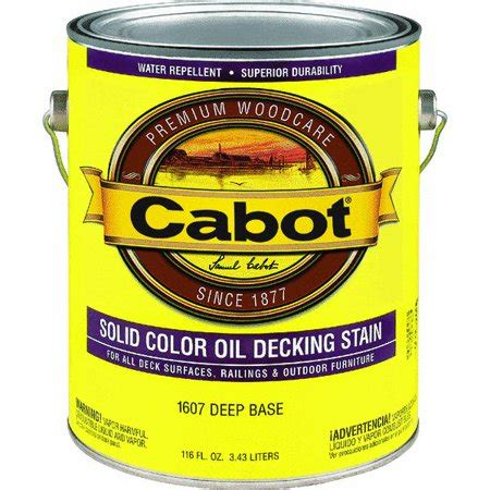 cabot solid color oil deck stain walmartcom