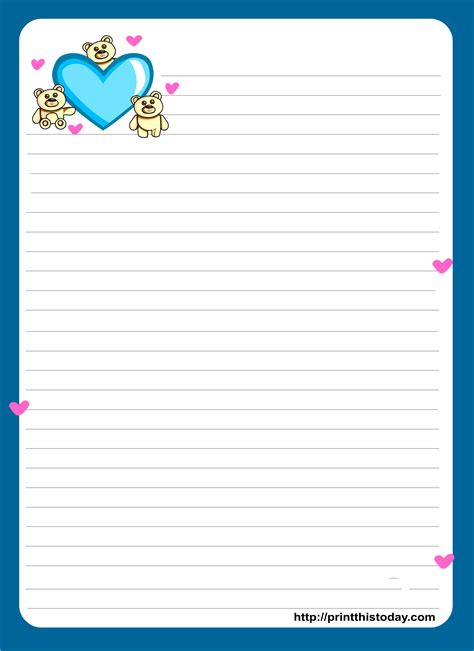 love letter pad stationery lined stationery