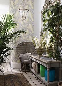 wintergarten farbstimmung mit tapete tropical sunroom With balkon teppich mit tropical tapete