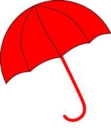 Red Umbrella Clip Art
