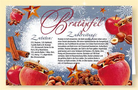 rezept duft weihnachtskarte brataepfel mit zimt duft