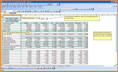 sample budget template   profit organization db