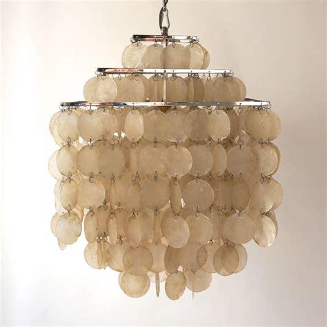 capiz shell chandelier capiz shell chandelier by verner panton for at 1stdibs