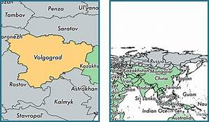 Volgograd Oblast administrative region, Russia / Map of ...