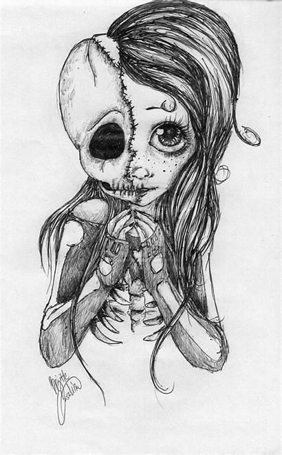 Drawings Cool Skull Drawing Sugar Easy Sketch
