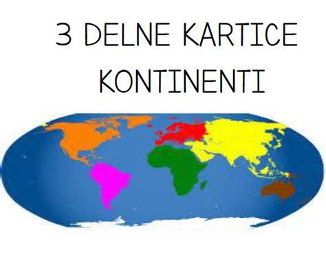 Kontinenti - 3 Delne Kartice PDF